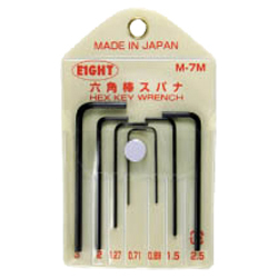 EIGHT Hex L-Wrench In Vinyl Pouch - Japan